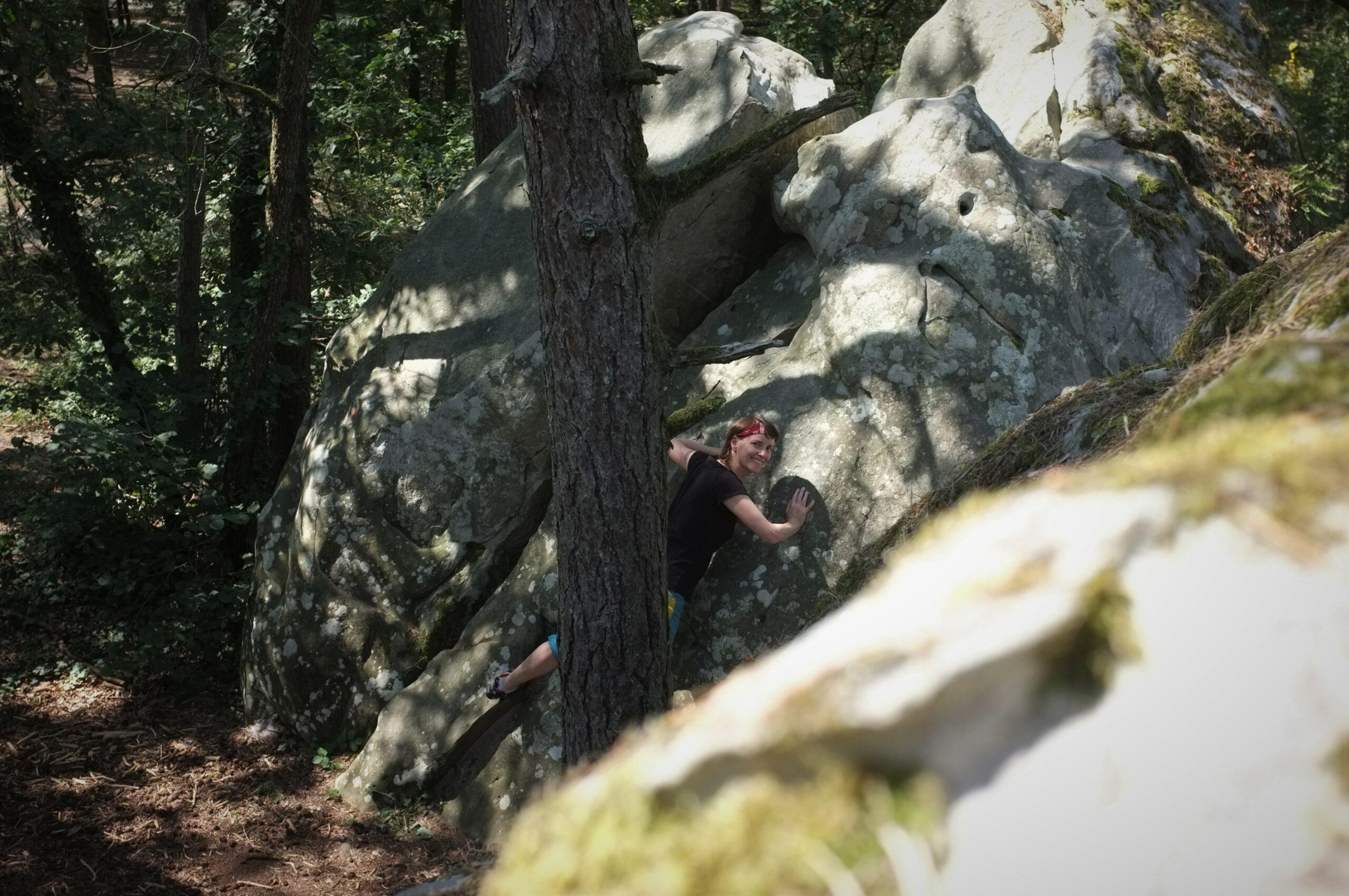bouldern in fontainebleau alexandra